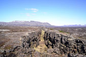 Thingvellir National park a famous area in Iceland right over th — Stock Photo