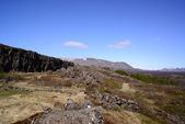Thingvellir National park a famous area in Iceland right over th — Stock fotografie