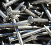 Macro shot of iron nails — Stock Photo
