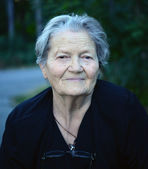 Close up portrait of older lady — Stock Photo