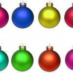Set Christmas baubles isolated on white — Stock Photo #8523985