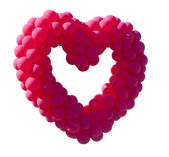 Red balloon heart on a white background — Stock Photo
