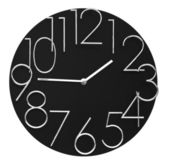 Time concept with watch or clock on white wall — Stock Photo