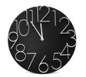 Wall clock, photo on the white background — Stock Photo