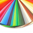 Color guide spectrum swatch samples rainbow on white background — Stock Photo #13237506