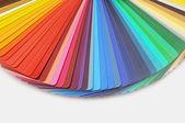 Wzornik kolorów palety dla poligrafii na białym tle — Zdjęcie stockowe