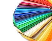 Arco-íris de amostras de swatch cor guia espectro no fundo branco — Foto Stock