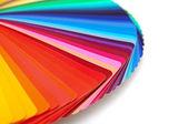 Gökkuşağı renk paleti üzerinde beyaz izole — Stok fotoğraf