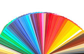 Colorful designer swatch palette guide chart spectrum — Stock Photo