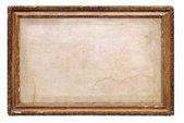 Ročník rám s staré plátno — Stock fotografie