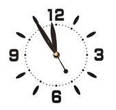 Wall clock on white — Stock Photo