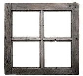 Old window frame isolated on white background. — Stok fotoğraf