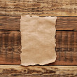 Old papers on wood textures background  — Stock Photo