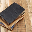 Стоковое фото: Vintage old books on wooden table