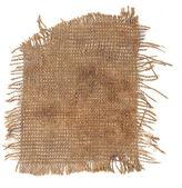 Perfekte alten tuch sack isoliert auf weißem hintergrund — Stockfoto