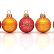 Beautiful christmas balls, isolated on white — Stock Photo #14739803