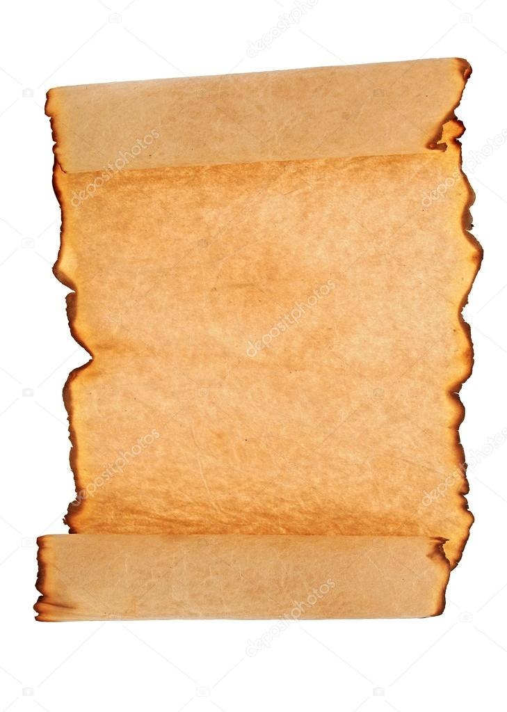 Antique paper scroll on white background  — Stock Photo #14875467