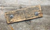 Информация старой древесины вывеска на деревянных фоне. С копия s — Стоковое фото