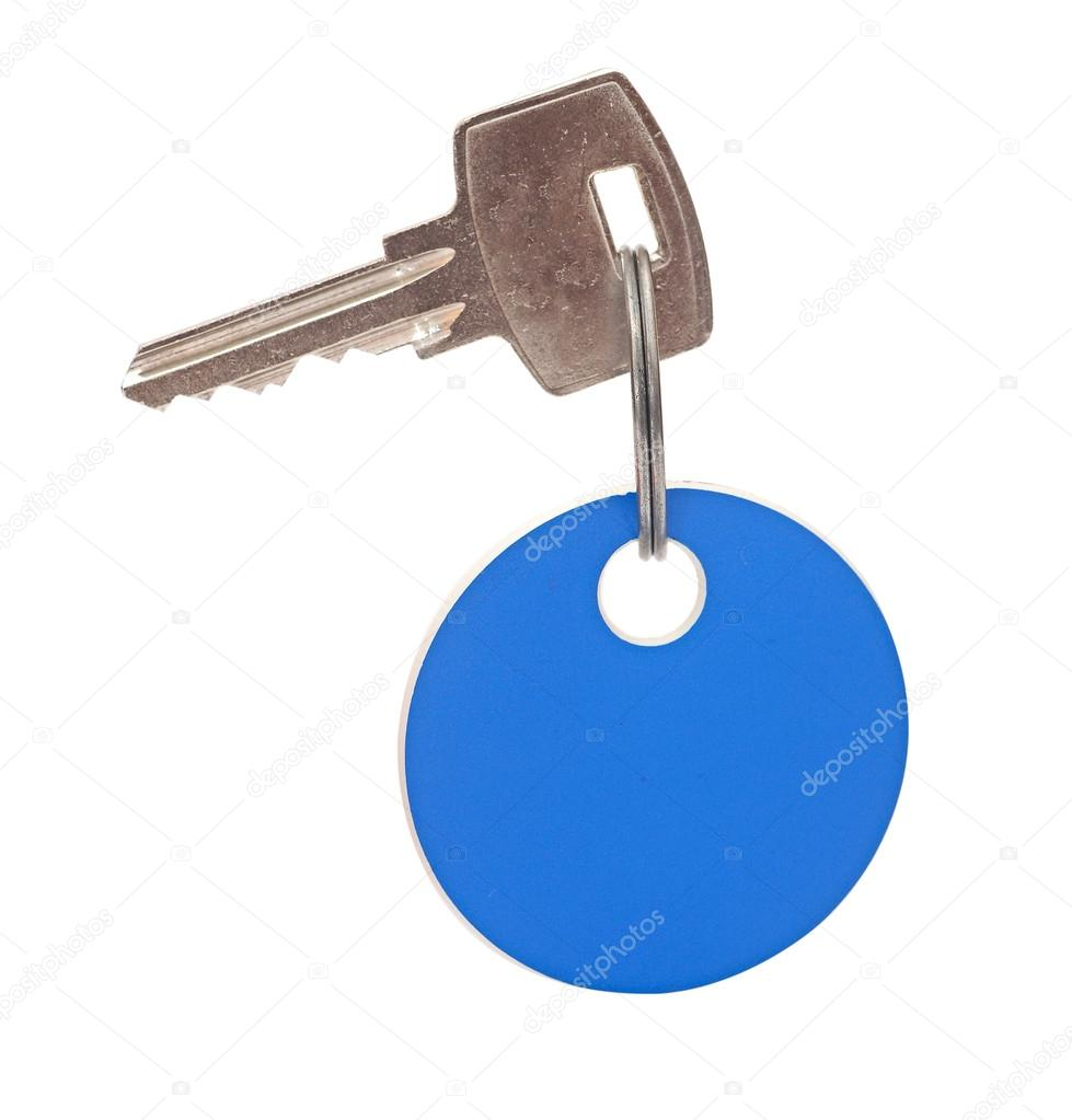 Blank tag and a key isolated on white background  — Stock Photo #15042163