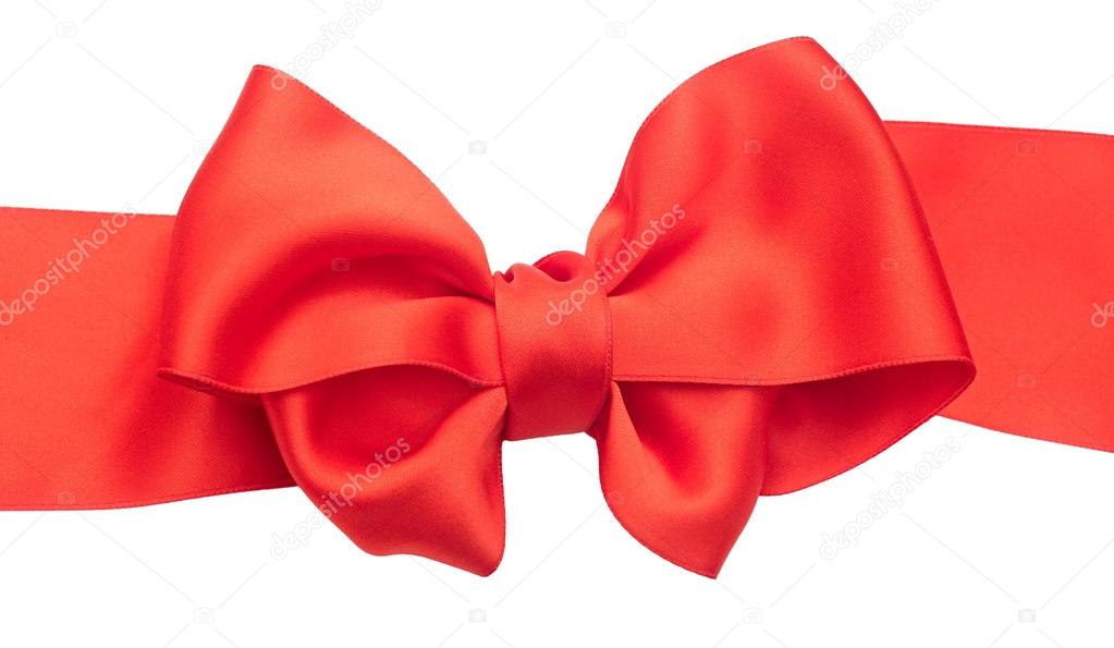 Red ribbons with bow isolated on white background  — Stock Photo #15630935