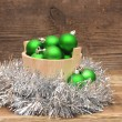 Christmas decoration composition — Foto Stock