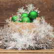 Christmas decoration on wooden table — Stock Photo #16261803