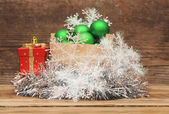 Christmas decoration composition — Stock Photo