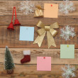 Christmas decoration on the wooden wall — Stock Photo #16865069