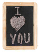 I Love You. Handwritten message on a chalkboard — Stock Photo