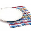 Table setting, knife and fork — Stock Photo