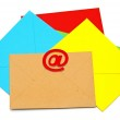 E-mail icon with colorful envelopes on white background. E-mail — Stock Photo