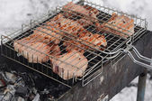 BBQ during the winter time — Stock Photo