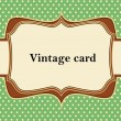 Royalty-Free Stock Vector Image: Vintage polka dot card