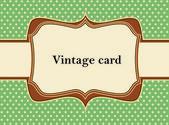 Vintage polka dot card — Stock Vector