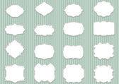 Retro etiketten blanco, schaalbare en bewerkbare vector illustratio instellen — Stockvector