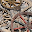Stock Photo: Antique wagon wheel