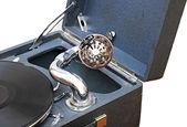 Retro eski gramofon müzik çalmak için — Stok fotoğraf