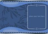 винтажная открытка приглашение — Cтоковый вектор