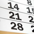 Page of calendar showing date of today — Stock Photo #25375483