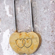 Stock Photo: Padlock heart