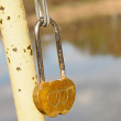 Stock Photo: Lock with hearts. Symbol of love.