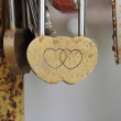 Padlock shape hearts. Symbol of love. — Stock Photo