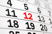 Calendar showing end of time or deadline — Stock Photo