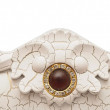 Fragment of a vintage furniture decorated by antique ornament — Stock Photo