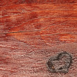 Love concept on wooden background with copyspace — Foto de Stock