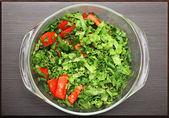 Close-up fresh vegetable salad — Stock Photo