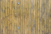 Лев дверной молоток на фоне древесины — Стоковое фото