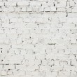 A white roughly textured brick wall painted with white paint — Stock Photo