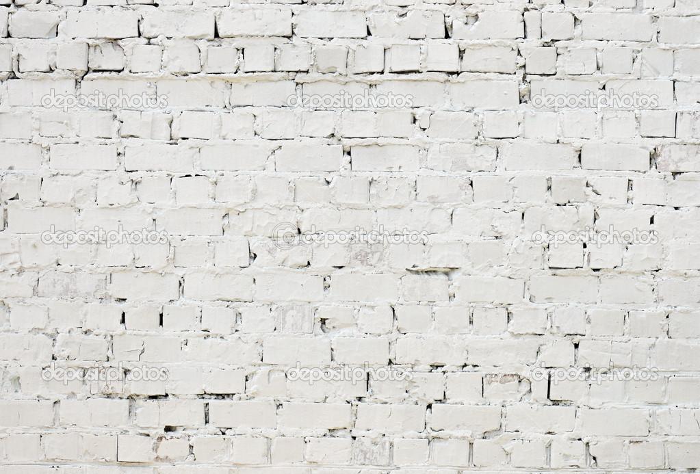 un blanc textur gros mur de briques peinte la peinture. Black Bedroom Furniture Sets. Home Design Ideas