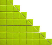 Abstract background with green squares — Stock Photo